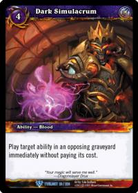 warcraft tcg twilight of the dragons dark simulacrum