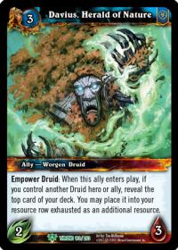 warcraft tcg throne of the tides davius herald of nature