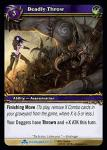 warcraft tcg scourgewar deadly throw