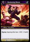 warcraft tcg servants of betrayer deafening shout