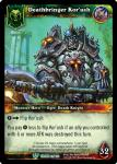 warcraft tcg foil hero cards deathbringer korush