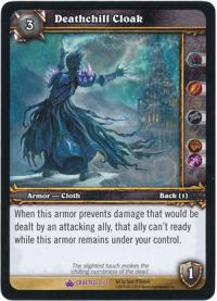 warcraft tcg crafted cards deathchill cloak
