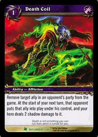 warcraft tcg class deck 2013 spring death coil cd
