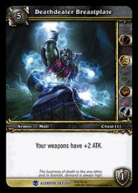 warcraft tcg heroes of azeroth deathdealer breastplate