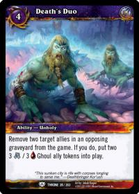 warcraft tcg throne of the tides death s duo