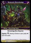 warcraft tcg servants of betrayer demonic knowledge