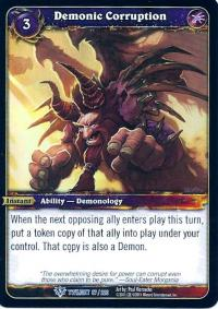 warcraft tcg twilight of the dragons demonic corruption