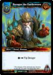 warcraft tcg foil hero cards deragor the earthsworn