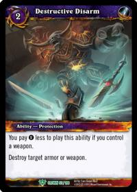 warcraft tcg crown of the heavens destructive disarm