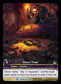 warcraft tcg extended art detect traps ea