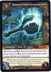 warcraft tcg worldbreaker foreign devout aurastone hammer french