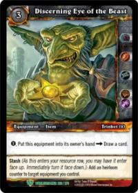 warcraft tcg worldbreaker discerning eye of the beast