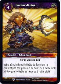 warcraft tcg worldbreaker foreign divine fury french