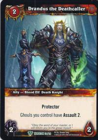 warcraft tcg class deck 2013 spring drandus the deathcaller cd