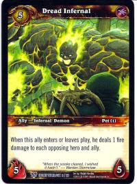 warcraft tcg class decks 2011 spring dread infernal cd