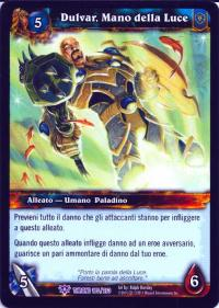 warcraft tcg throne of the tides italian dulvar hand of the light italian
