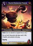 warcraft tcg archives earth elemental totem foil