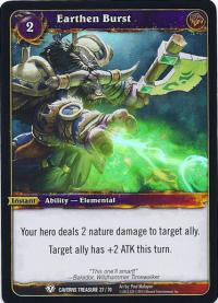 warcraft tcg caverns of time earthen burst