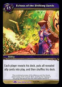 warcraft tcg the dark portal echoes of the shifting sands