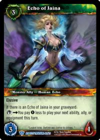 warcraft tcg battle of aspects echo of jaina