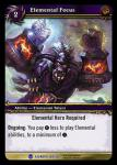 warcraft tcg heroes of azeroth elemental focus