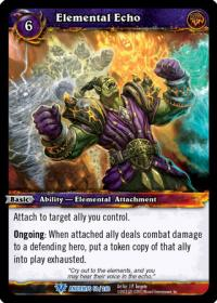 warcraft tcg war of the ancients elemental echo