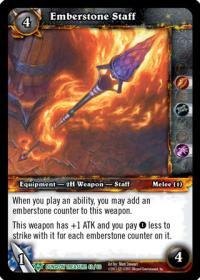warcraft tcg dungeon deck treasure emberstone staff