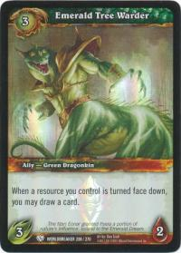 warcraft tcg foil and promo cards emerald tree warder foil