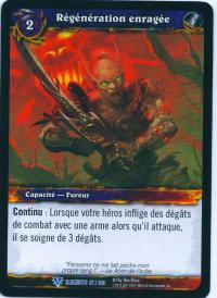 warcraft tcg war of the elements french enraged regeneration french