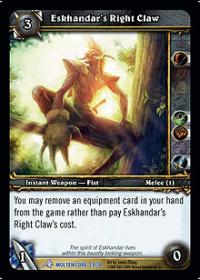 warcraft tcg molten core eskhandar s right claw