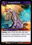 warcraft tcg dungeon deck treasure faithful prayer
