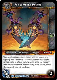 warcraft tcg battle of aspects fangs of the father