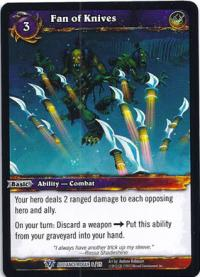 warcraft tcg class deck 2013 spring fan of knives cd 13