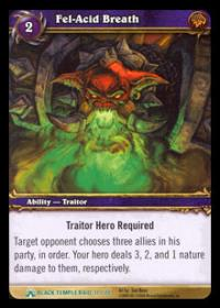 warcraft tcg black temple fel acid breath