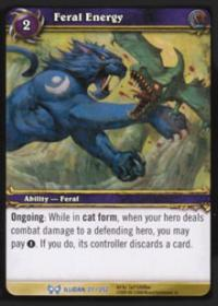 warcraft tcg the hunt for illidan feral energy