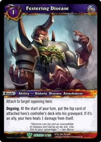 warcraft tcg war of the ancients festering disease