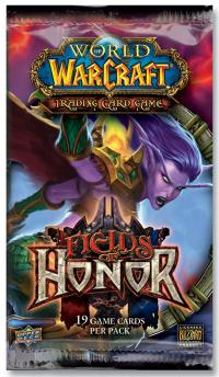 warcraft tcg warcraft sealed product fields of honor booster pack