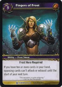 warcraft tcg icecrown fingers of frost