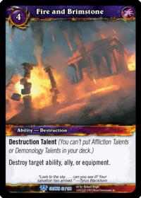 warcraft tcg crown of the heavens fire and brimstone