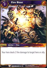 warcraft tcg class deck 2013 spring fire blast cd