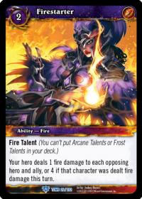 warcraft tcg tomb of the forgotten firestarter
