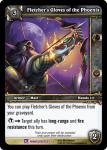 warcraft tcg crafted cards fletcher s gloves of the phoenix