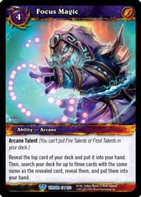 warcraft tcg throne of the tides focus magic