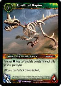 warcraft tcg crafted cards fossilized raptor
