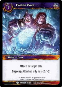 warcraft tcg twilight of the dragons frozen core