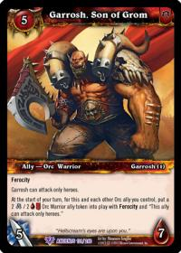 warcraft tcg war of the ancients garrosh son of grom