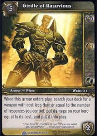 warcraft tcg naxxramas girdle of razuvious