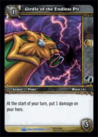 warcraft tcg magtheridons lair girdle of the endless pit