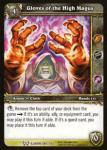 warcraft tcg the hunt for illidan gloves of the high magus
