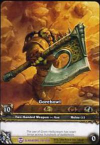 warcraft tcg extended art gorehowl ea